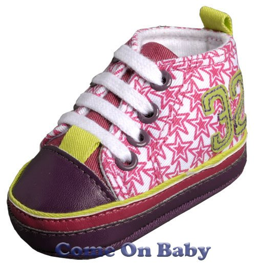 New Infant Girls Toddler Baby Crib Shoes 3-6m (b01001)