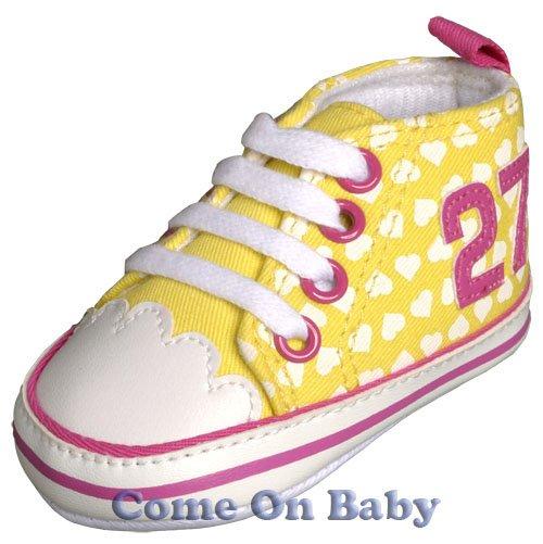 New Infant Girls Toddler Baby Crib Shoes 3-6m (b00904)