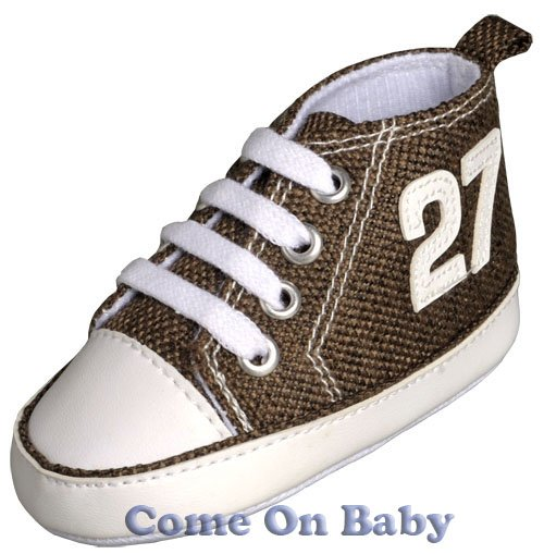 New Infant Boys Toddler Baby Crib Shoes 3-6m (b01102)