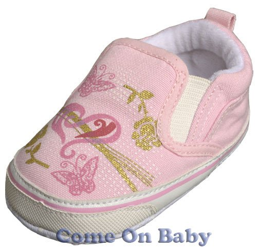 New Infant Girls Toddler Baby Crib Shoes 6-9m (c01701)