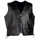 Diamond Plate™ Rock Design Genuine Leather Vest (Medium)