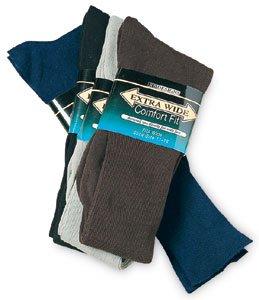 Navy Blue Extra Wide Dress Socks Size 8 - 11 Wide Feet Diabetic Cotton Nylon 2700-811-NB