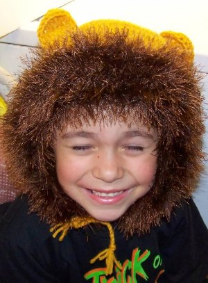 Lion Crochet Hat Pattern Size 5-7 child