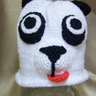 Knitted Baby Panda Beanie Hat Pattern