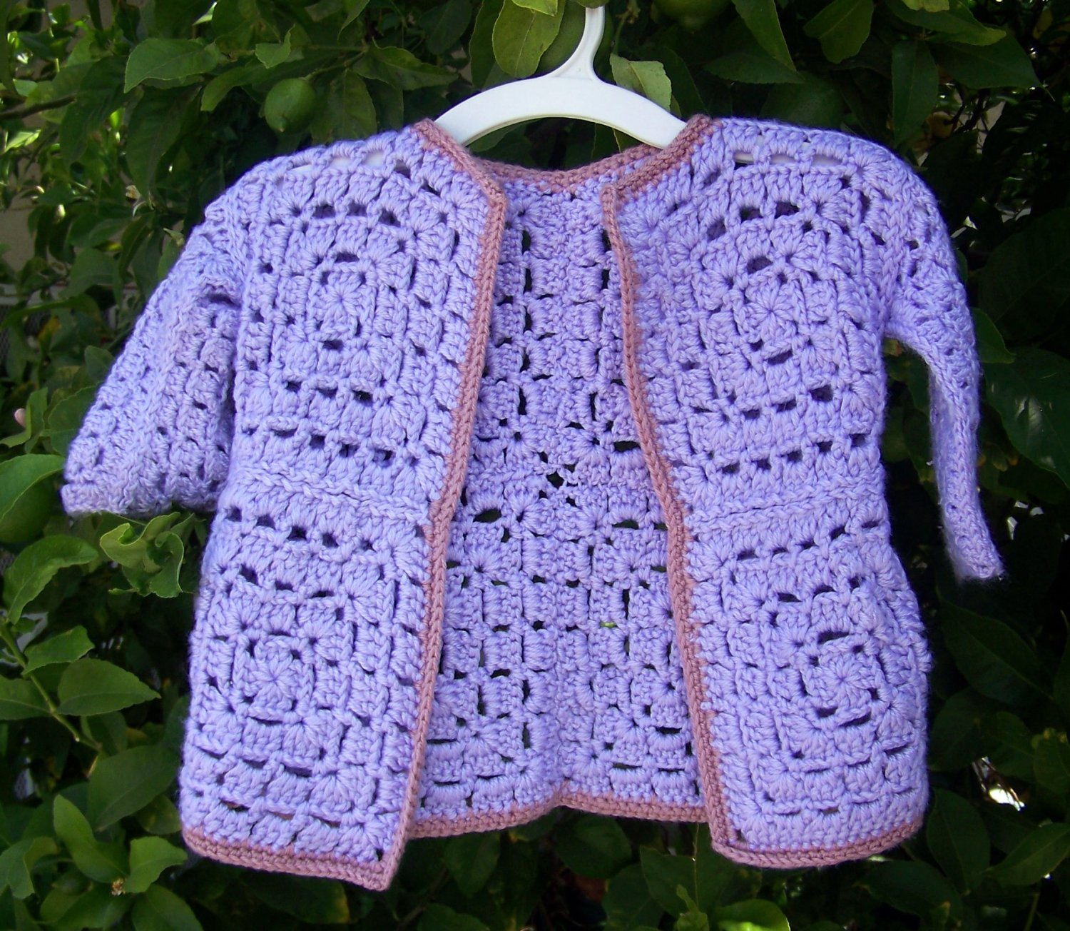 Crochet Granny Square Sweater Pattern : Granny Square Baby Sweater Pattern