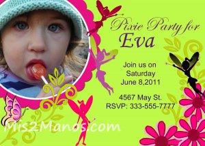 Custom Fairy Invitations DIY Printables
