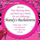 Custom Bridal Shower and or Bachelorette Damask Invitations DIY Printables