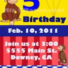 Custom Invitations Personalized DIGITAL Birthday Curious George Invite