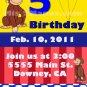 Custom Invitations Personalized DIGITAL Birthday Curious George Invite