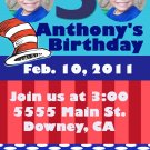 Custom Cat in the Hat  Invitations Personalized DIGITAL Birthday  Invite