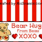 Valentine Bear Treat Bag Topper- Bear Loves Candy Shop Printables