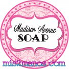 Personalized Label Sticker 2 inch Round Sticker Pink Damask and Dots
