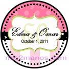 Wedding Label Sticker 2 inch Round Personalized Sticker