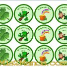 Saint Patrick Day Sticker Labels 2 inch Round Birthday Party Favor Stickers
