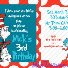 Cat in the Hat Birthday Invitations Printable One Hour Printable Photo Dr. Suess Print at Home DIY
