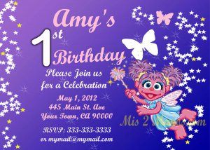 Abby Cadabby Birthday Invitation- Custom Printable Printable Party Invitation diy Print at Home