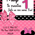 Minnie Birthday Invitation- Custom Printable Printable Party Invitation diy Print at Home