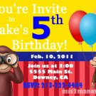 Curious George Birthday Invitations Printable 5x7, One Hour Printable Photo