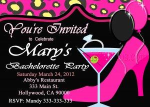 Bachelorette Party Cheetah  Invite DIY Custom Printable Bridal Shower Print at Home