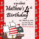 Pirates Theme Birthday Invitations Printable One Hour Printable Photo Print at Home DIY