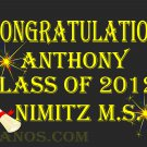 Graduation Banner 2'x4' Indoor/Outdoor: Custom Design w/Name or Store Logo