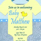 Baby Shower Onesie Invitations Printable Baby Boy custom order Party DIY Download and Print