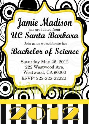Graduation Invitation diy Printable Party Invites Personalized Custom Orders 2012 Graduation