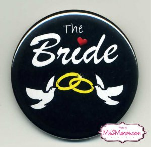 Bride and Groom Bridal Shower Buttons Personalized Buttons Custom Buttons