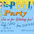 Pool Party Invitations DIY Custom Printable Birthday Party Print at Home Invites by Mis2Manos