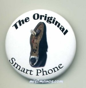 Smart Phone Badge Shoe Phone Pin Back Button Personalized Buttons and Magnets