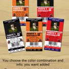 Football Theme Party Printable Ticket Invitations, One HourPhoto Card, DIY Birthday Ticket Cards