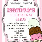 Ice cream Shop Party Invites Personalized Print at Home
