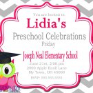Preschool Graduation Invitations Printable Invites Personalized Graduation