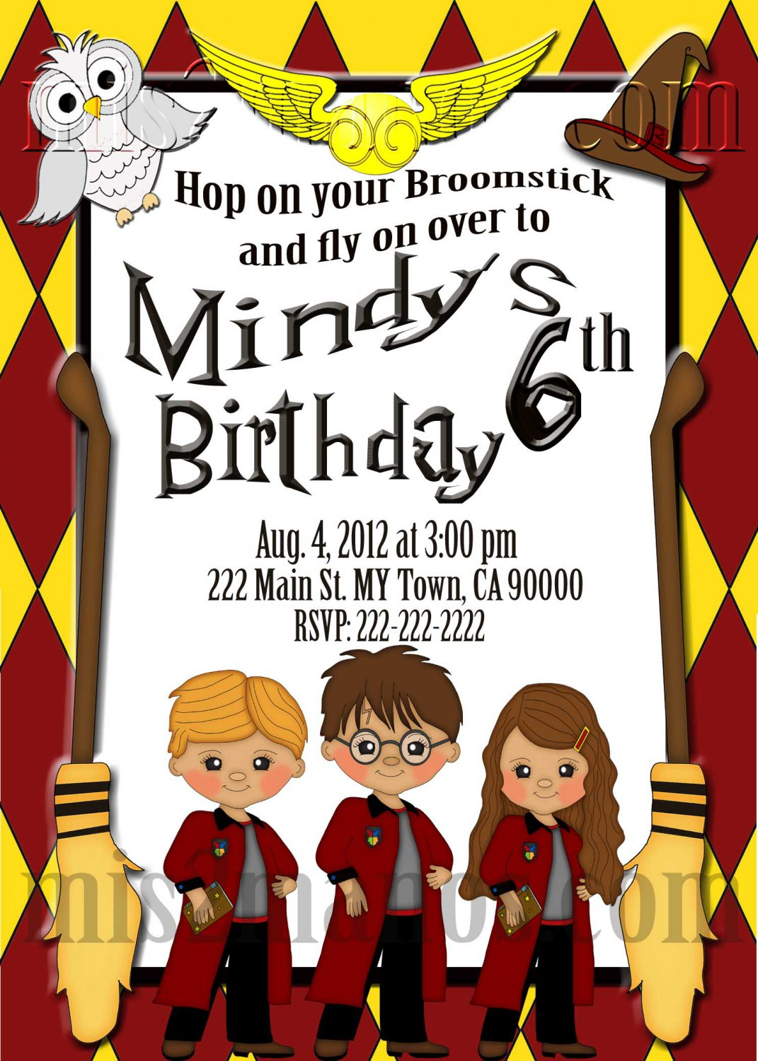Harry Potter Party Invitations Gangcraftnet - Birthday invitations harry potter printable