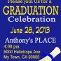 Graduation Ticket Invites Your School Colors diy printable invitation Announcements