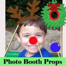 Holiday Christmas Photo Props Set of 10 Rudolf and Fosty Printables