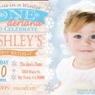Winter ONEderland birthday invitation party invitations, Rustic winter onederland party