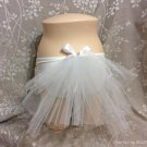 BACHELORETTE Bling Veil 12 inch Three Tiered Bustle Veil, Bridal Veil. Beach Veil