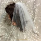 Party Veil, Bachelorette Veil, One Layer Veil, Girls night out veil, Party Veil - White Veil