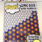 Comic Book Color Coloring Book for Adults and Big Kids Comic Bubbles Coloring Pages