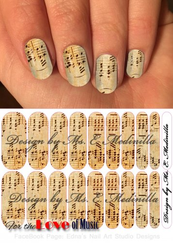 Jamberry Nail Wraps Music Sheet Design  CUSTOM NAS