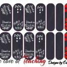 Jamberry Nail Wraps Black Chalkboard Design  CUSTOM NAS
