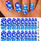 Jamberry Nail Wraps Tropical Blue Flowers Desig CUSTOM NAS