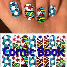 Comic Con Jamberry Nail Wraps Comic Book Design  CUSTOM NAS