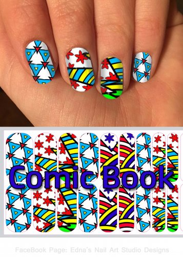 Comic Con Jamberry Nail Wraps Comic Book Design  CUSTOM NAS