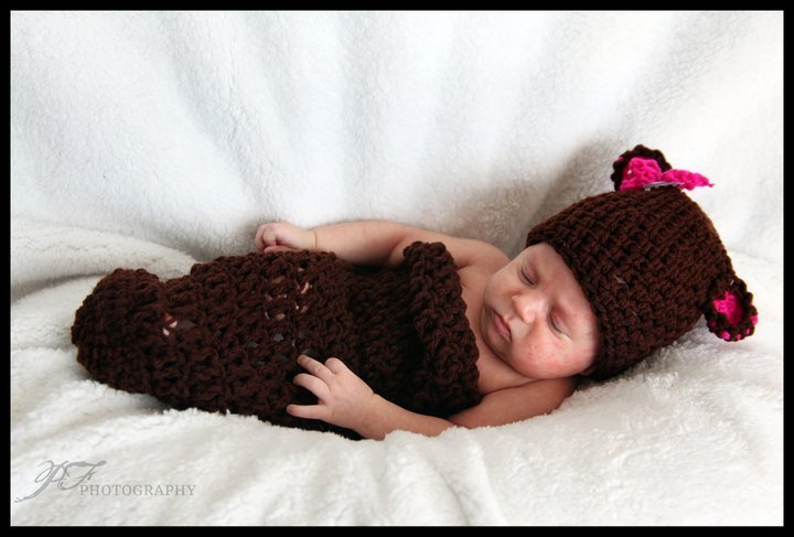 Baby newborn cocoon and hat set photo props photography