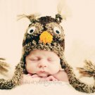 Baby Owl hat newborn 4 sizes photo props
