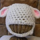 baby Lamb crochet beanie photo prop