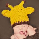 Giraffe Crochet beanie Newborn photo props