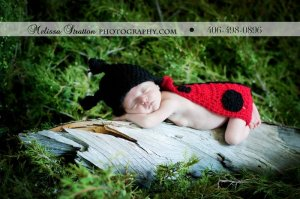Newborn Ladybug hat and cape set photo props photography